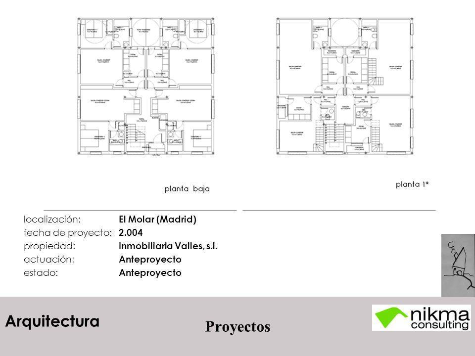 Proyectos localización: El Molar (Madrid) fecha de proyecto: 2.004