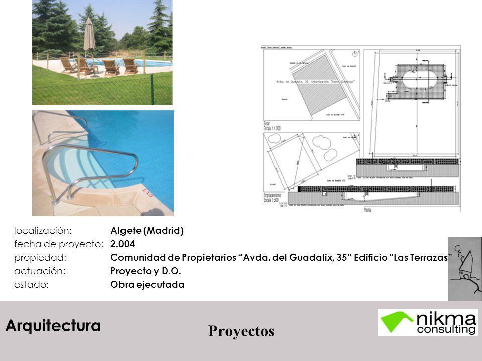 Proyectos localización: Algete (Madrid) fecha de proyecto: 2.004