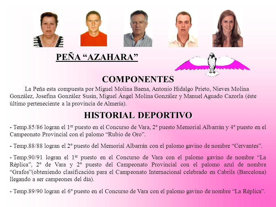 PEÑA AZAHARA COMPONENTES HISTORIAL DEPORTIVO