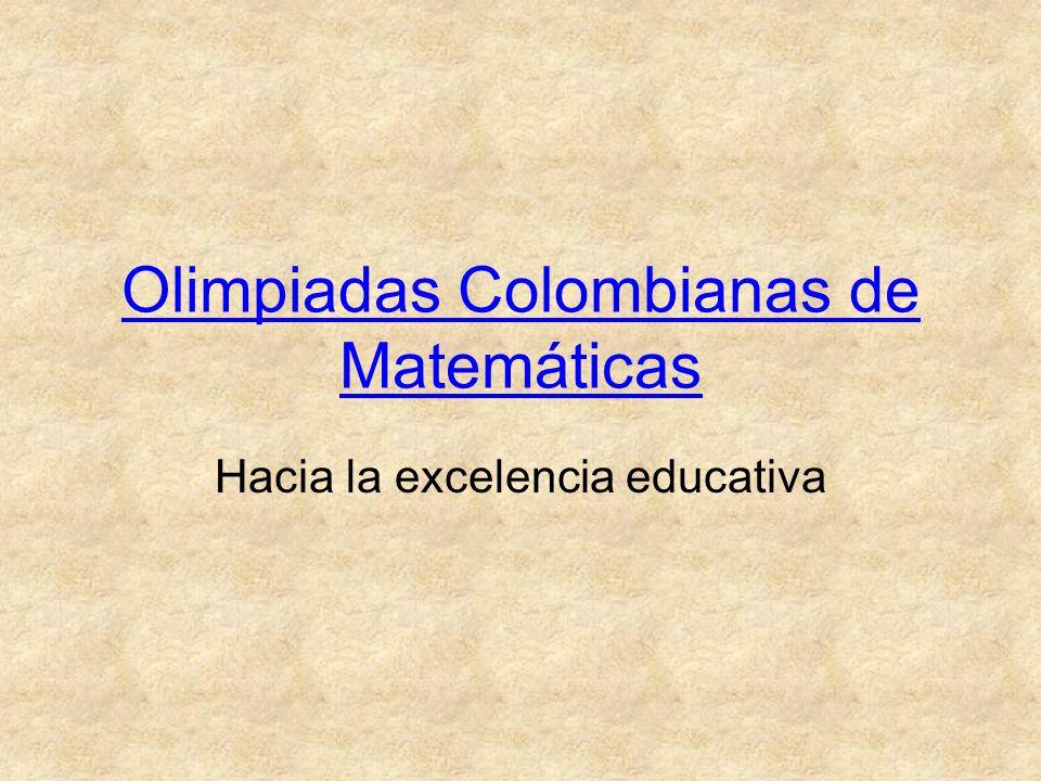 Olimpiadas Colombianas de Matemáticas