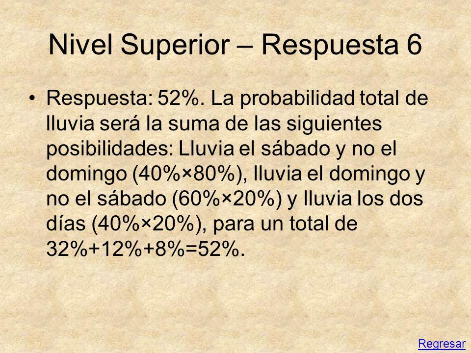 Nivel Superior – Respuesta 6