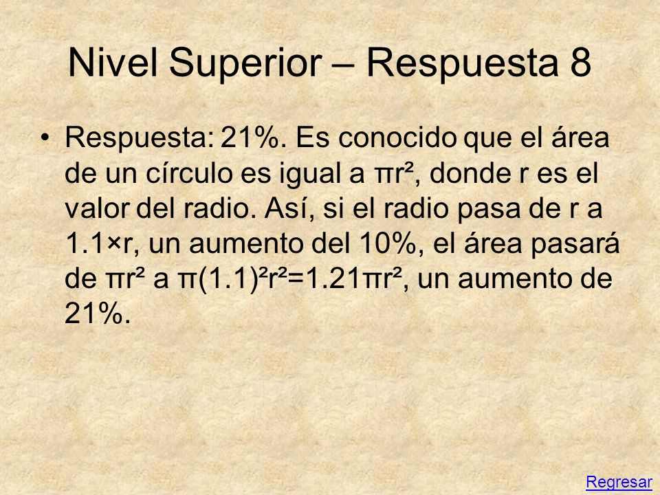 Nivel Superior – Respuesta 8
