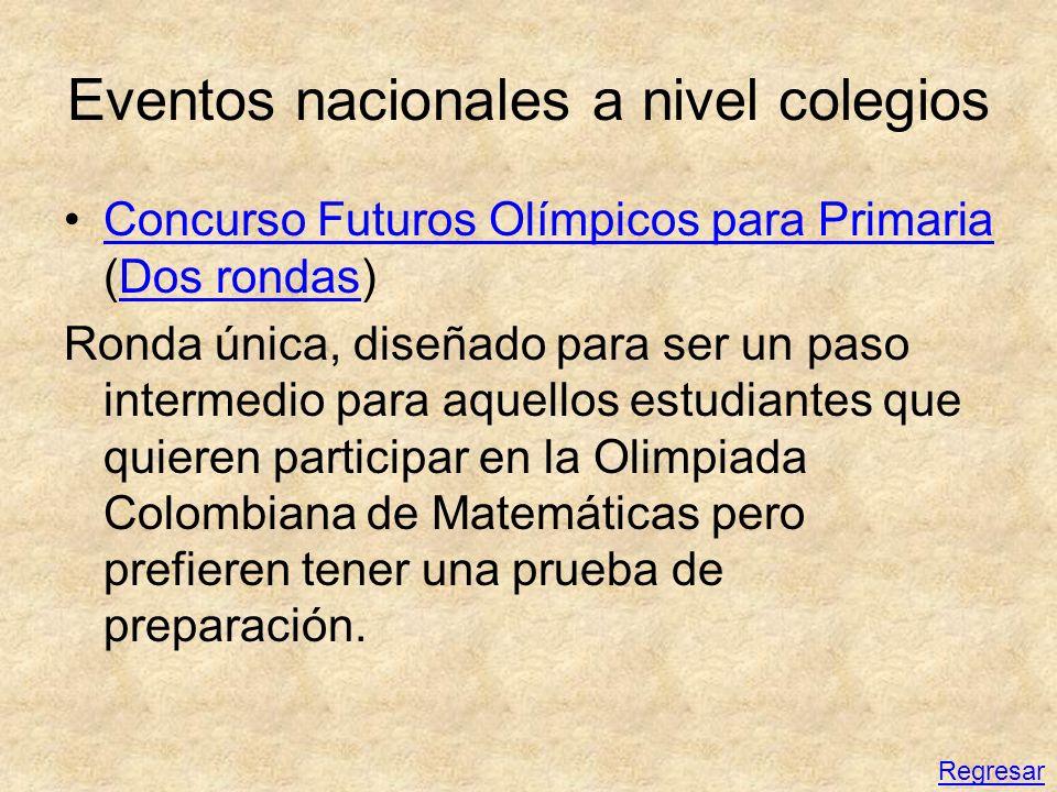 Eventos nacionales a nivel colegios