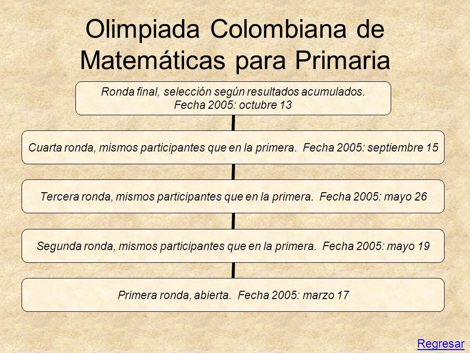Olimpiada Colombiana de Matemáticas para Primaria