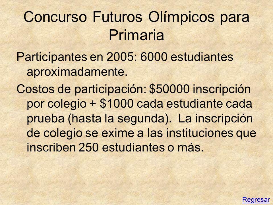 Concurso Futuros Olímpicos para Primaria