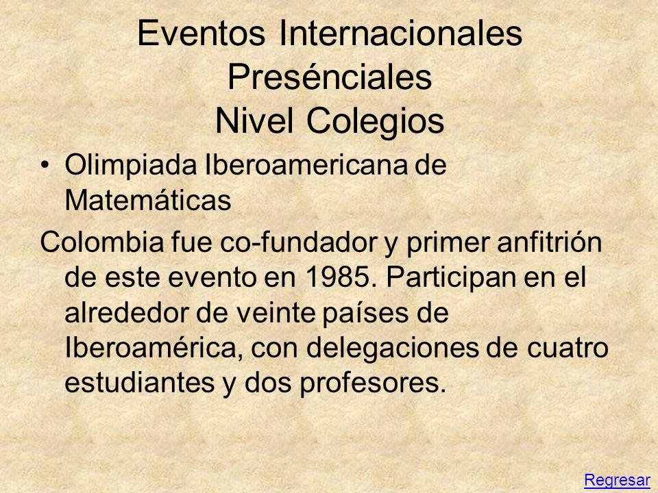 Eventos Internacionales Presénciales Nivel Colegios