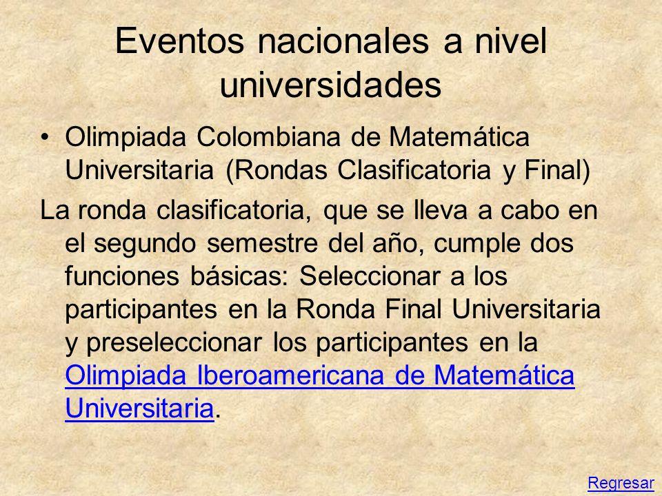 Eventos nacionales a nivel universidades
