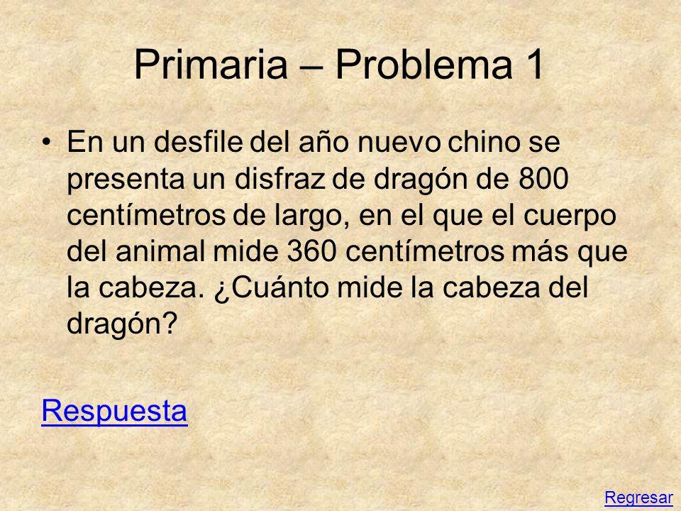 Primaria – Problema 1