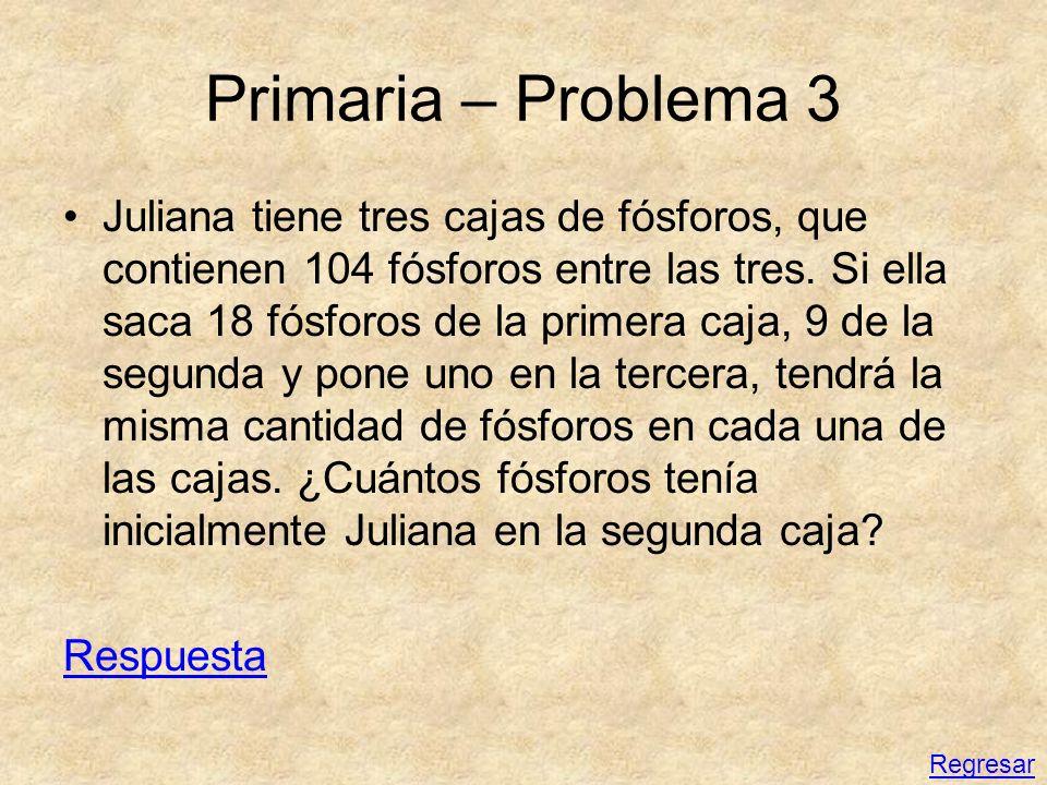 Primaria – Problema 3