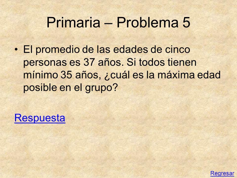 Primaria – Problema 5