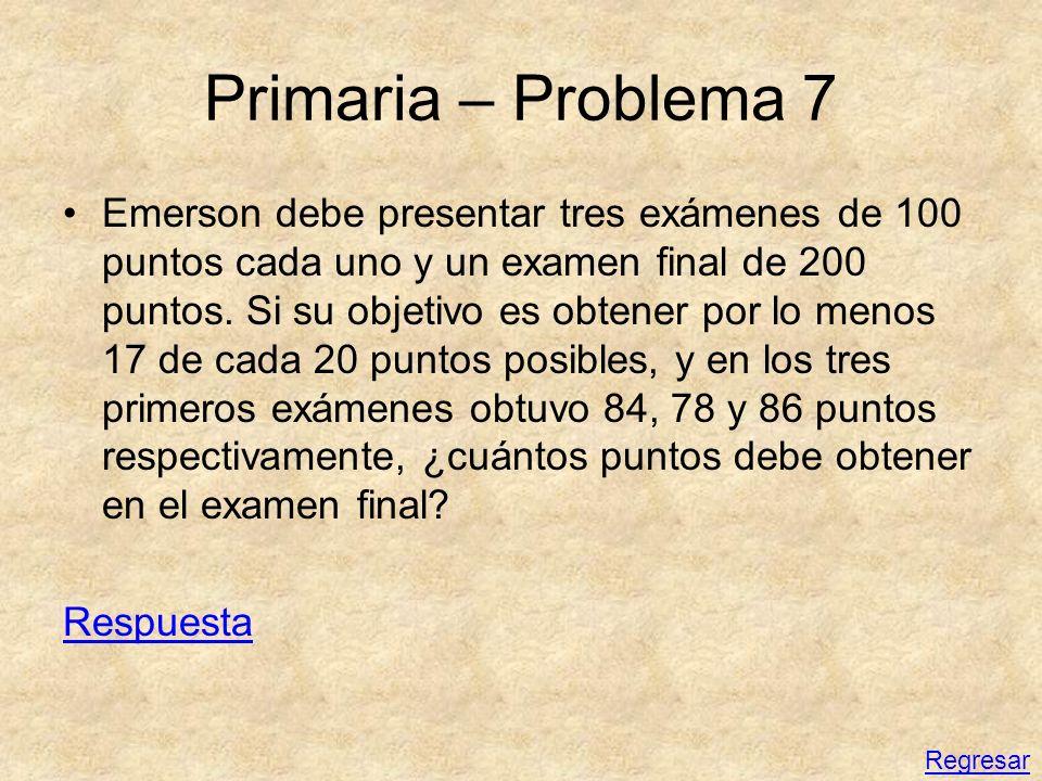 Primaria – Problema 7
