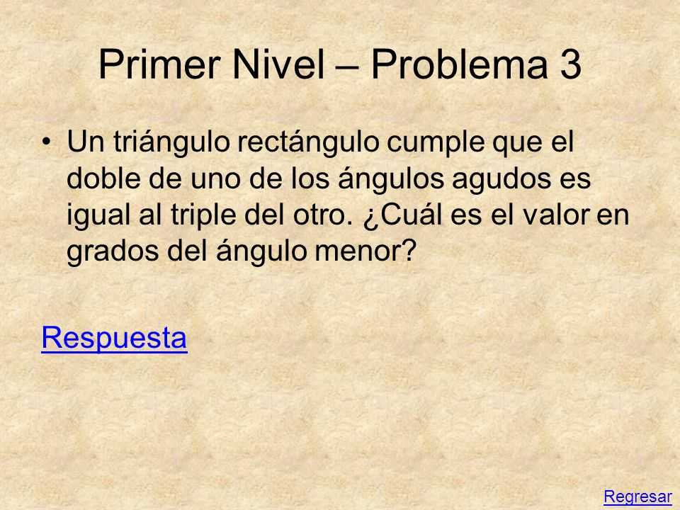 Primer Nivel – Problema 3