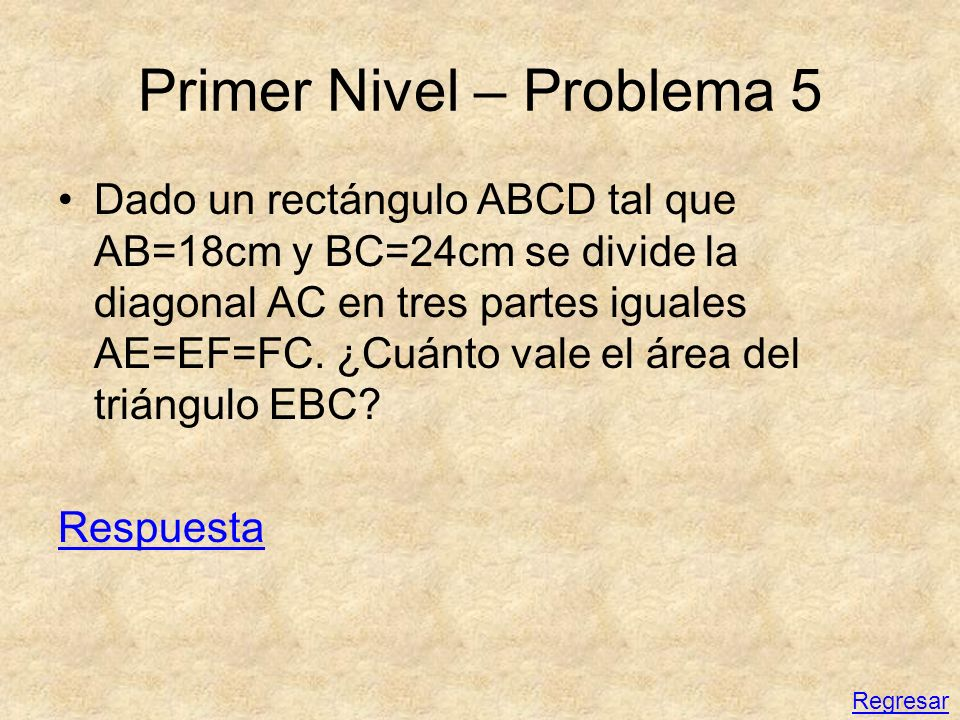 Primer Nivel – Problema 5