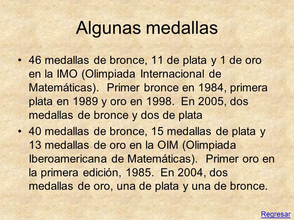 Algunas medallas