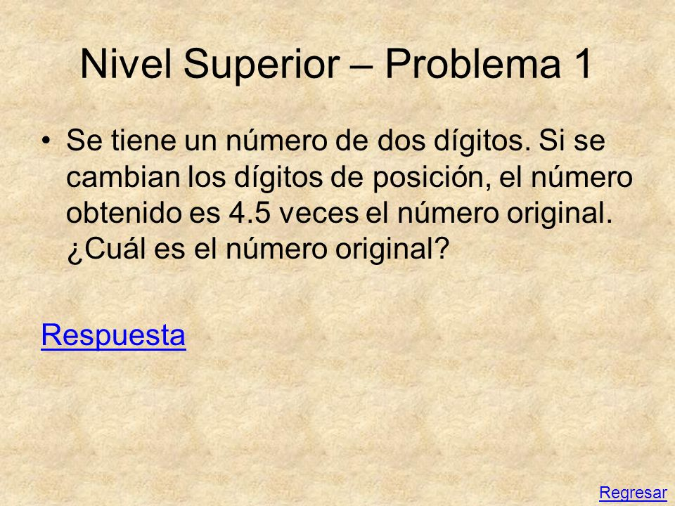 Nivel Superior – Problema 1