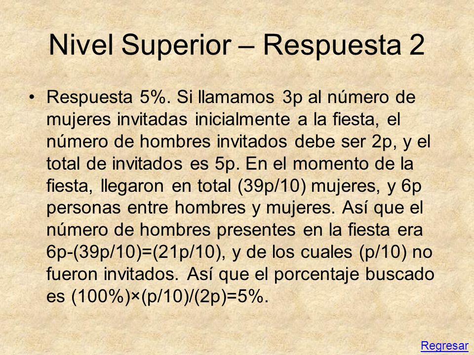 Nivel Superior – Respuesta 2