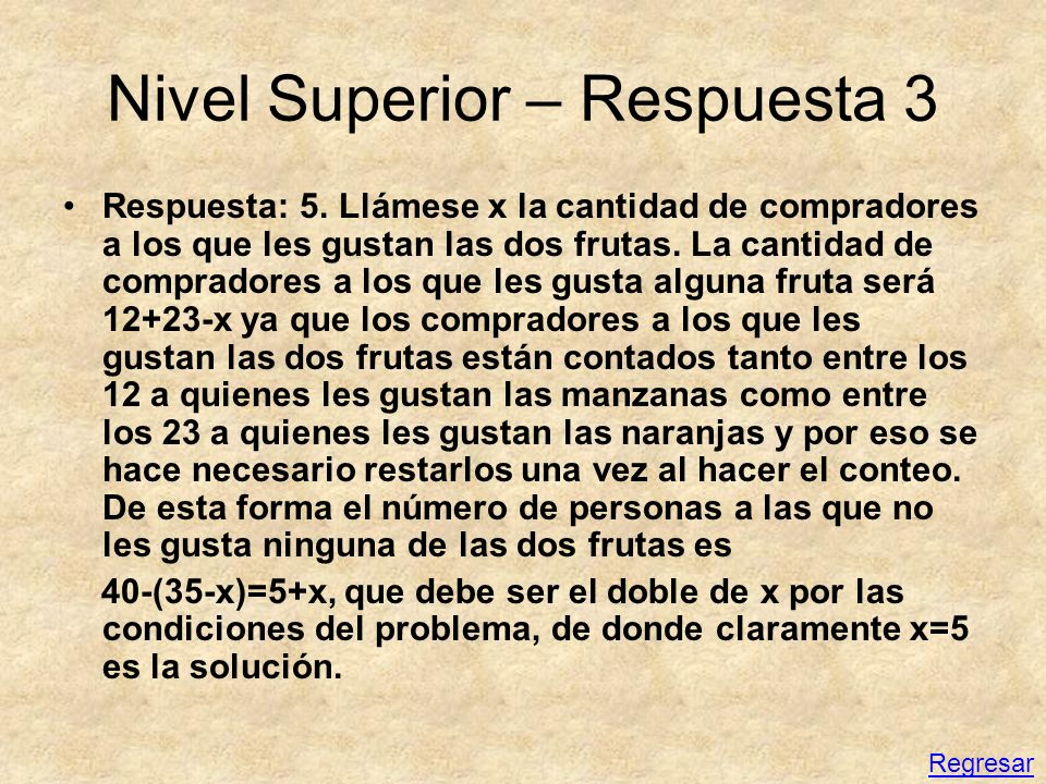 Nivel Superior – Respuesta 3