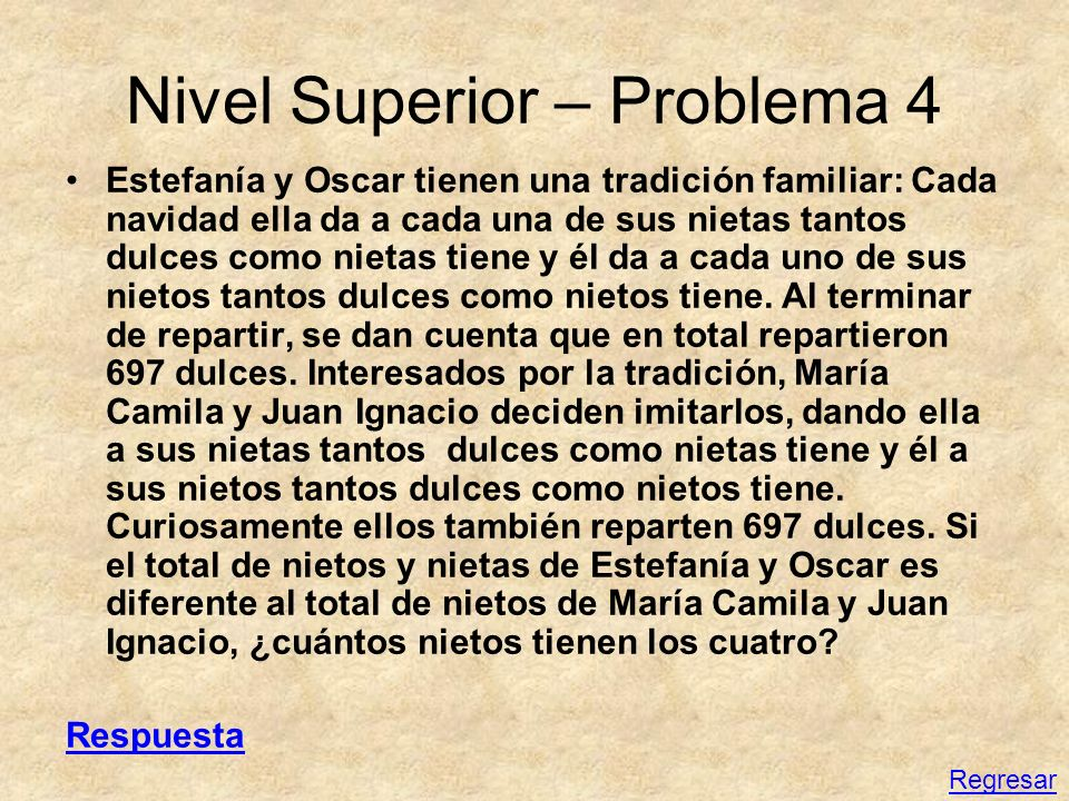 Nivel Superior – Problema 4