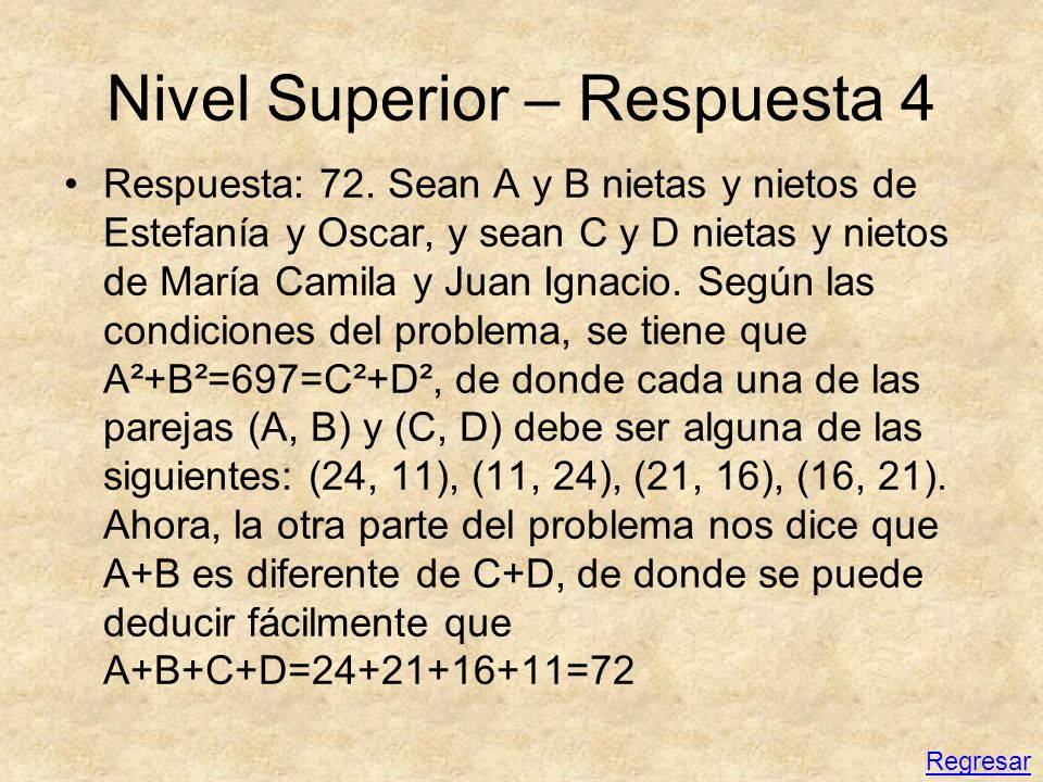 Nivel Superior – Respuesta 4