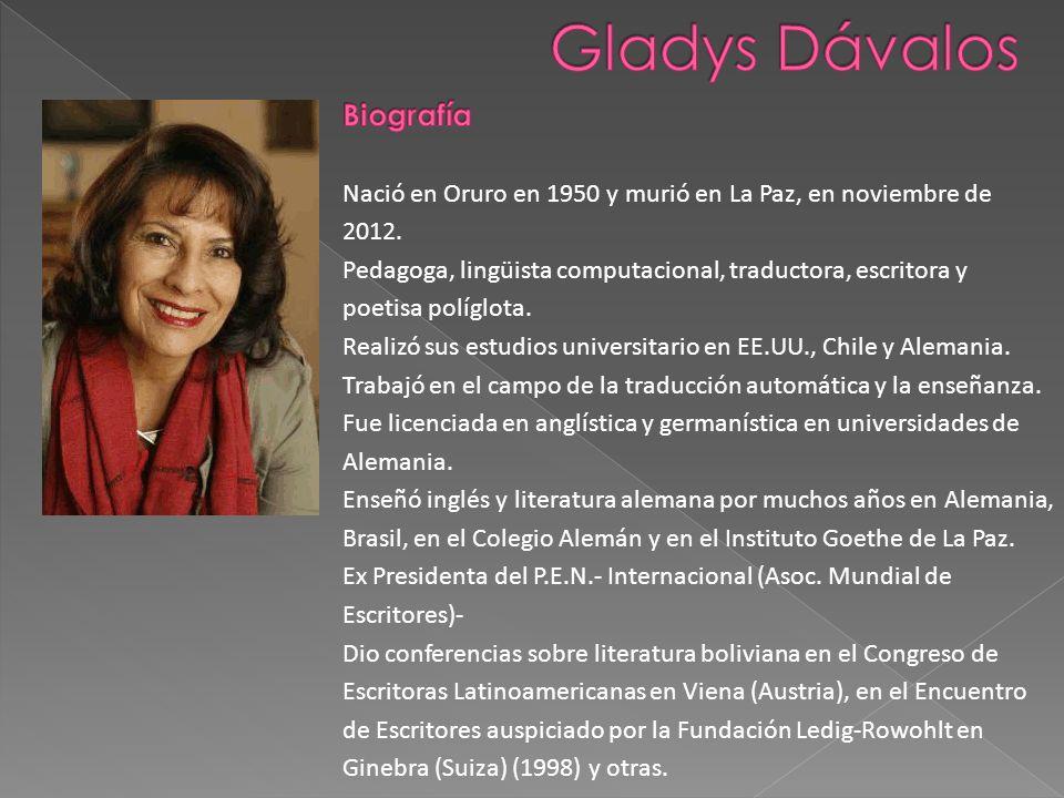 Gladys Dávalos Biografía