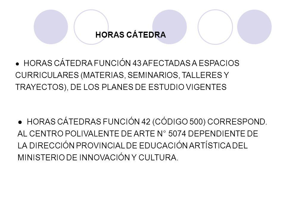 HORAS CÁTEDRA