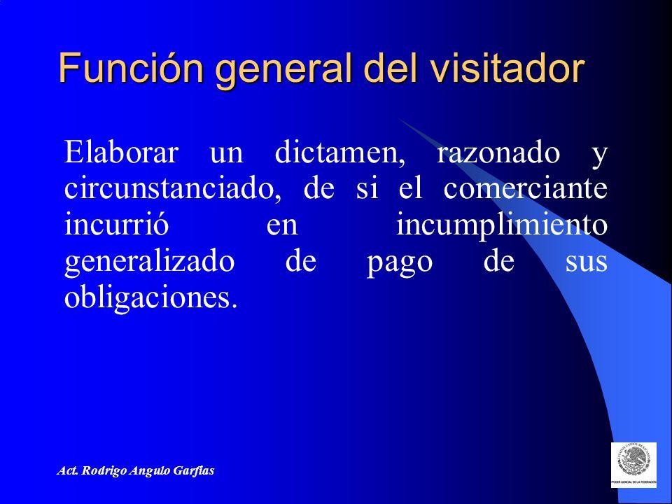Función general del visitador
