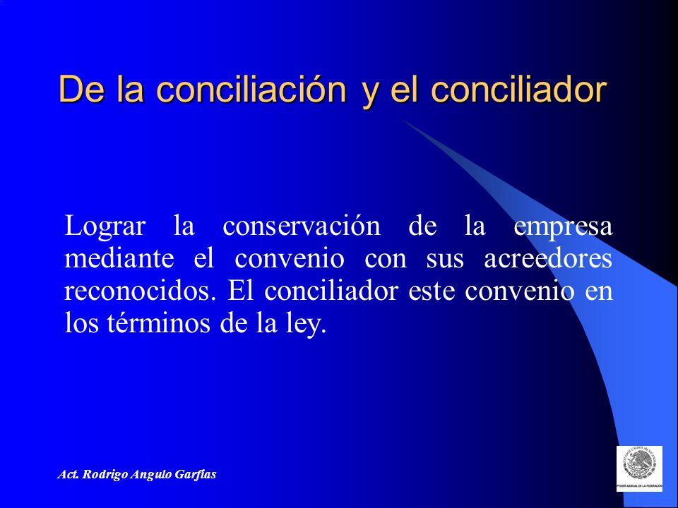 De la conciliación y el conciliador