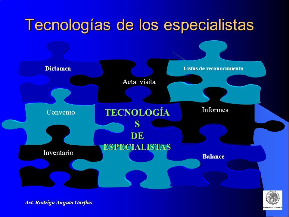 Tecnologías de los especialistas