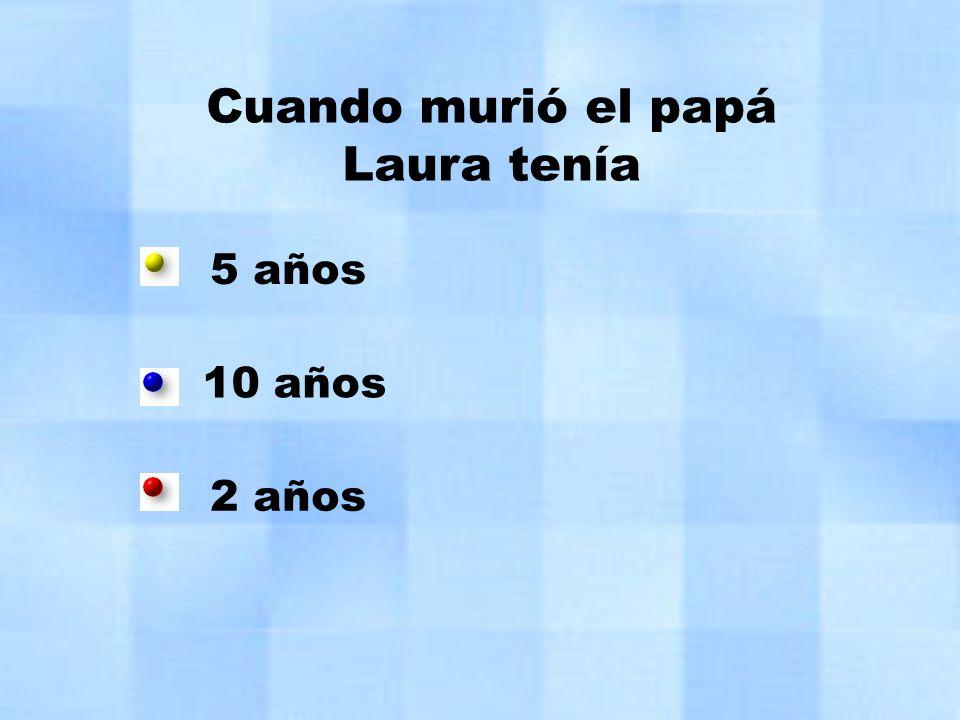 Cuando murió el papá Laura tenía
