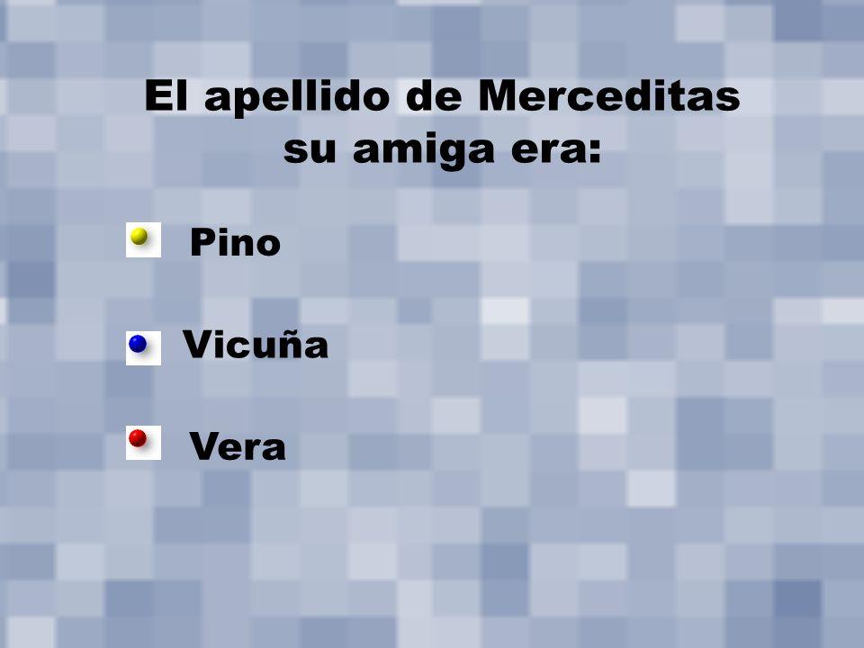 El apellido de Merceditas su amiga era: