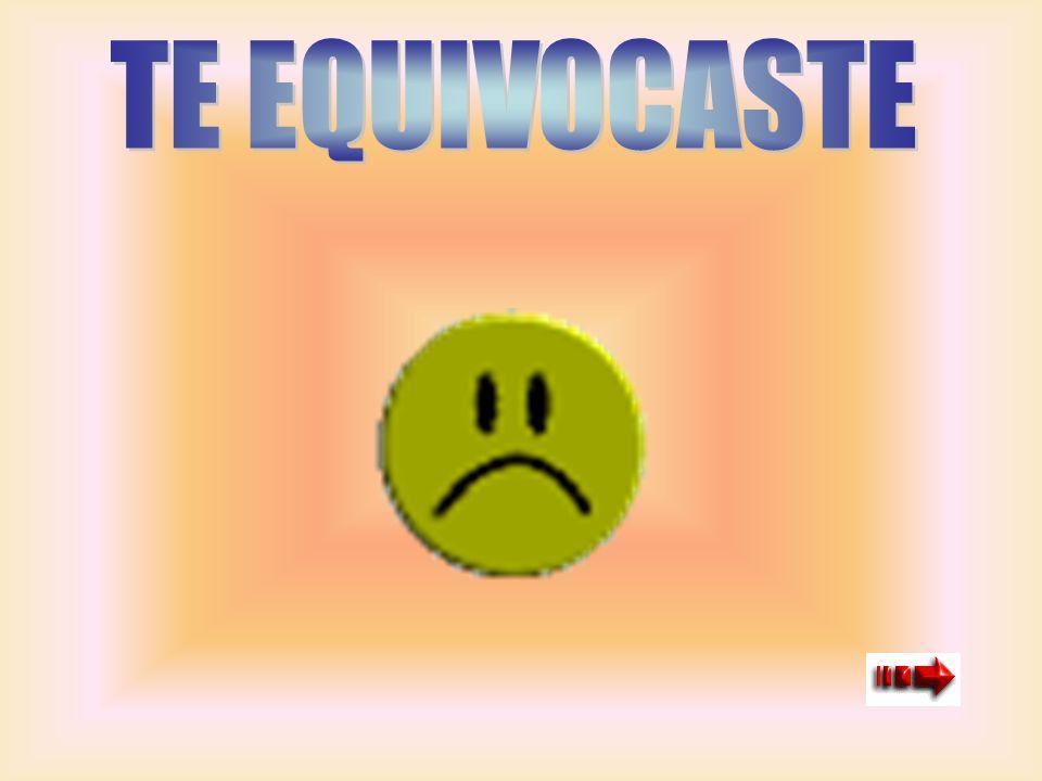 TE EQUIVOCASTE