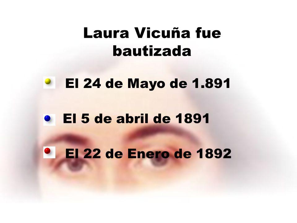Laura Vicuña fue bautizada