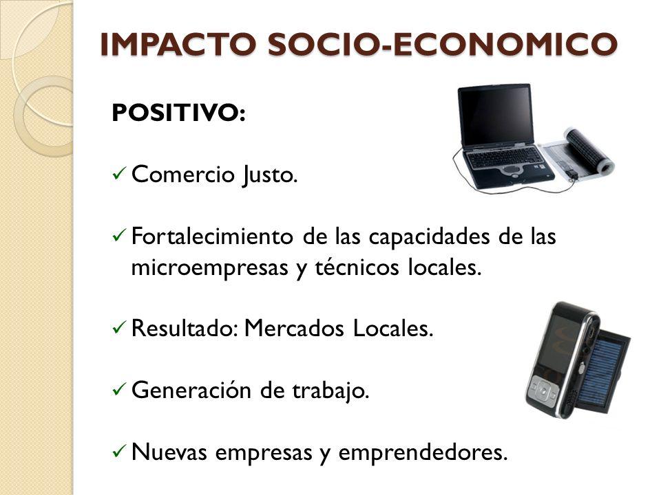 IMPACTO SOCIO-ECONOMICO