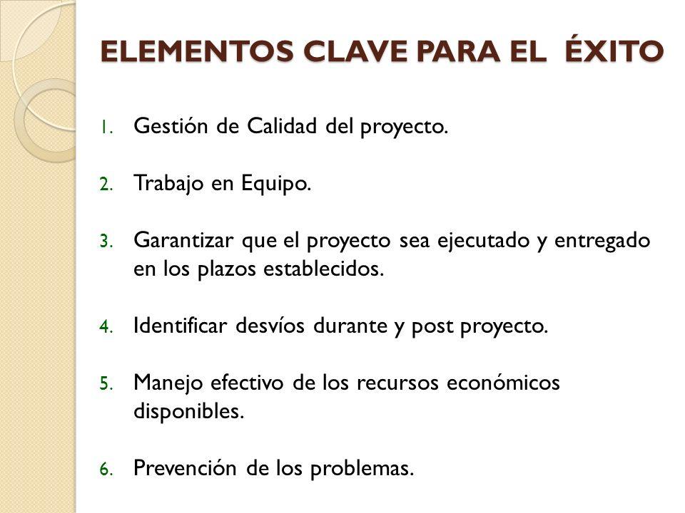 ELEMENTOS CLAVE PARA EL ÉXITO