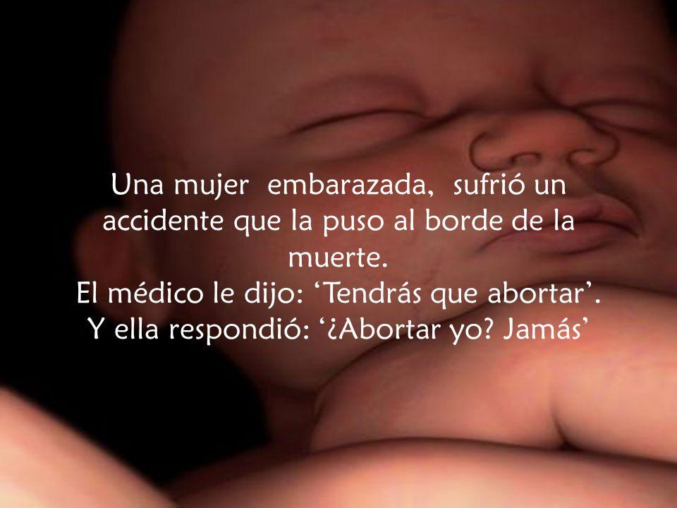 Una mujer embarazada, sufrió un accidente que la puso al borde de la muerte.