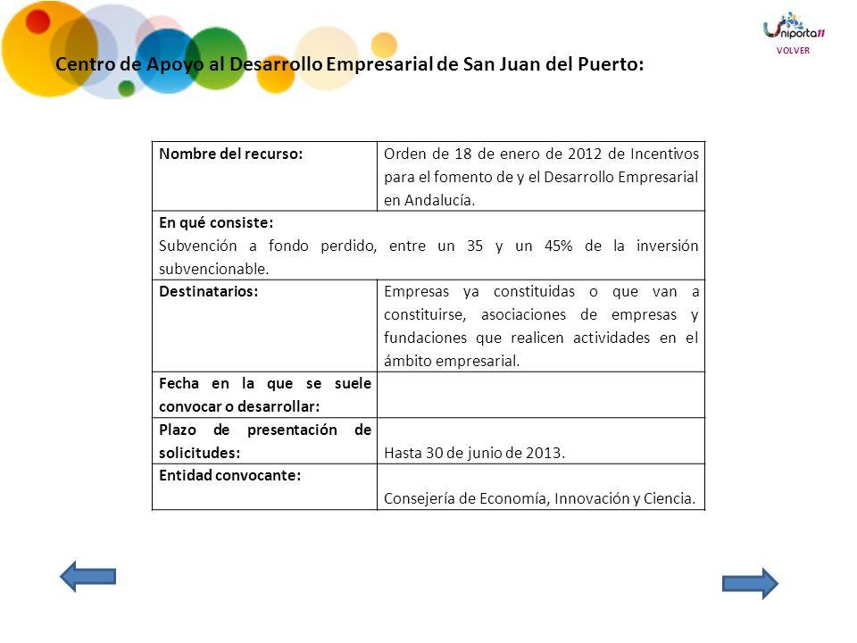 Centro de Apoyo al Desarrollo Empresarial de San Juan del Puerto: