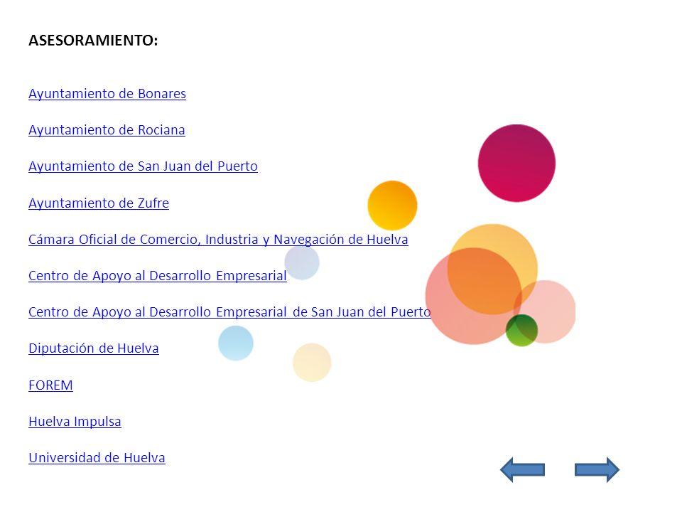 ASESORAMIENTO: Ayuntamiento de Bonares Ayuntamiento de Rociana