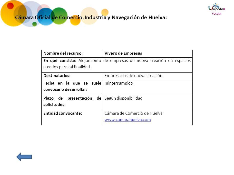 Cámara Oficial de Comercio, Industria y Navegación de Huelva: