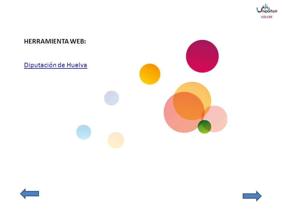 VOLVER HERRAMIENTA WEB: Diputación de Huelva