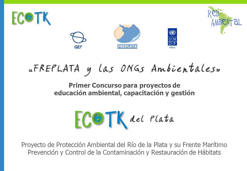 Primer Concurso para proyectos de educación ambiental, capacitación y gestión