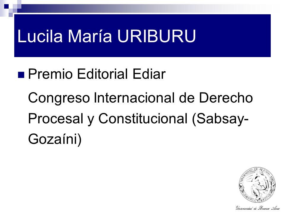 Lucila María URIBURU Premio Editorial Ediar