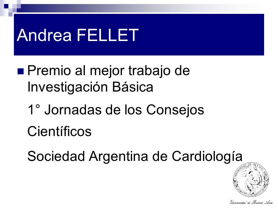 Andrea FELLET Premio al mejor trabajo de Investigación Básica