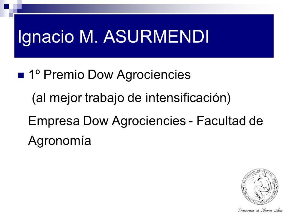 Ignacio M. ASURMENDI 1º Premio Dow Agrociencies
