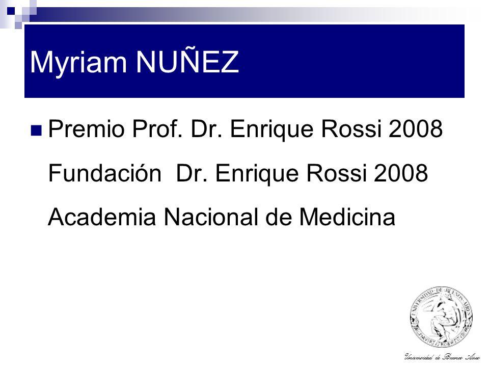 Myriam NUÑEZ Premio Prof. Dr. Enrique Rossi 2008