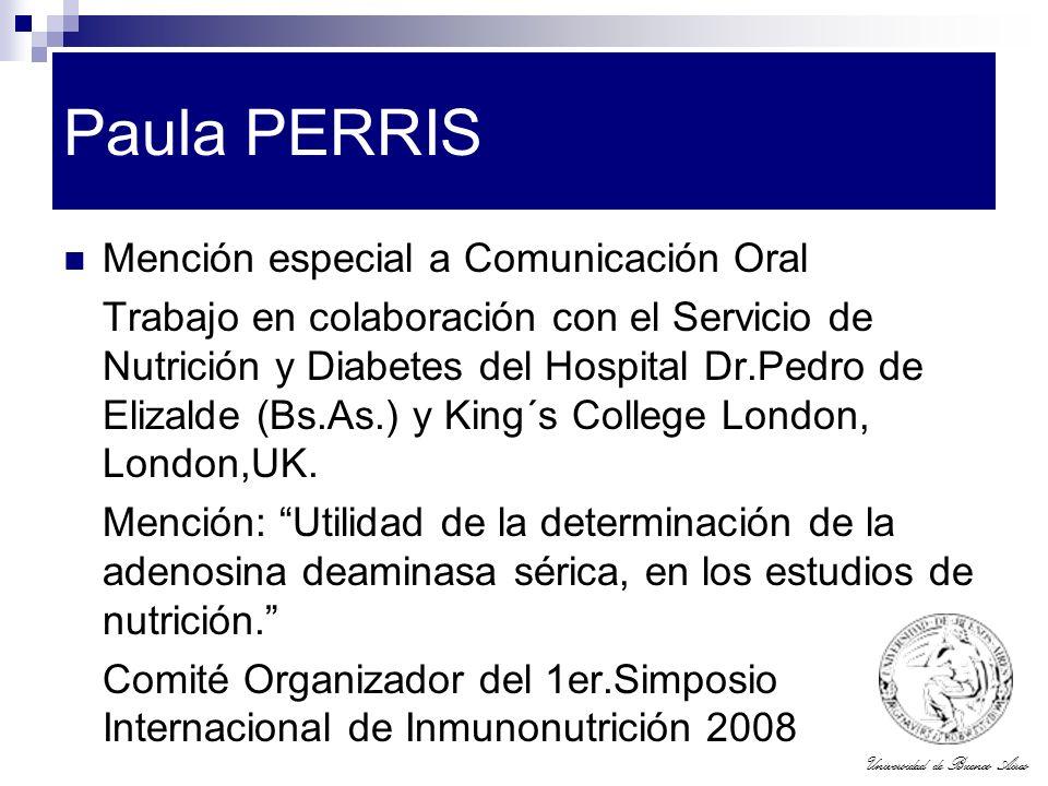 Paula PERRIS Mención especial a Comunicación Oral
