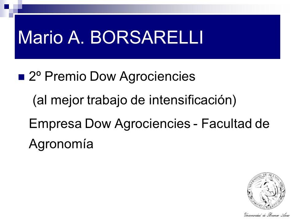 Mario A. BORSARELLI 2º Premio Dow Agrociencies