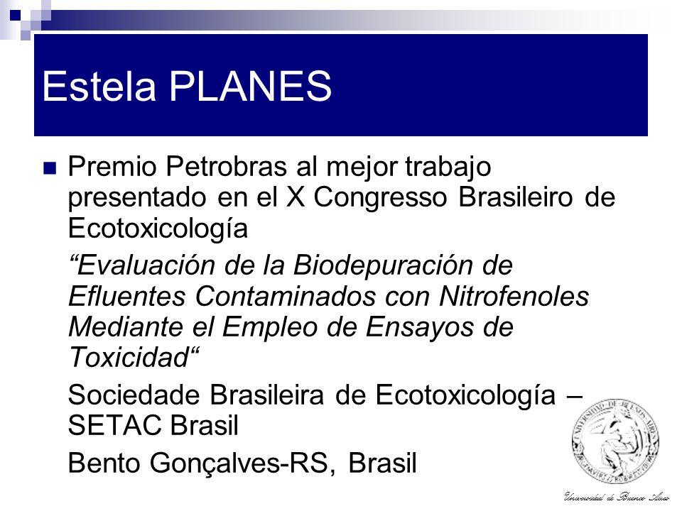 Estela PLANES Premio Petrobras al mejor trabajo presentado en el X Congresso Brasileiro de Ecotoxicología.