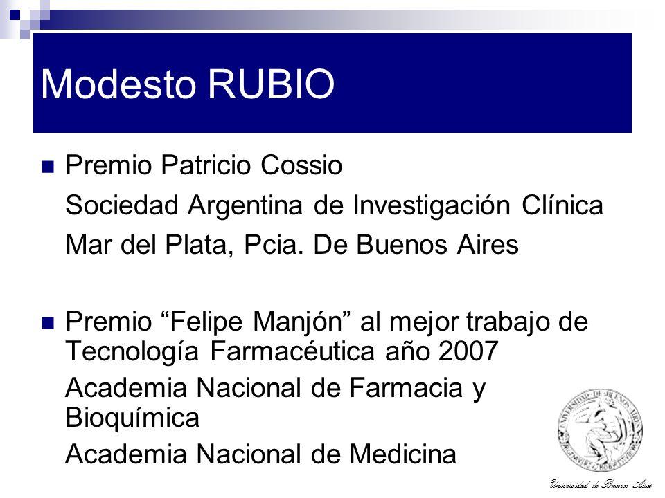 Modesto RUBIO Premio Patricio Cossio