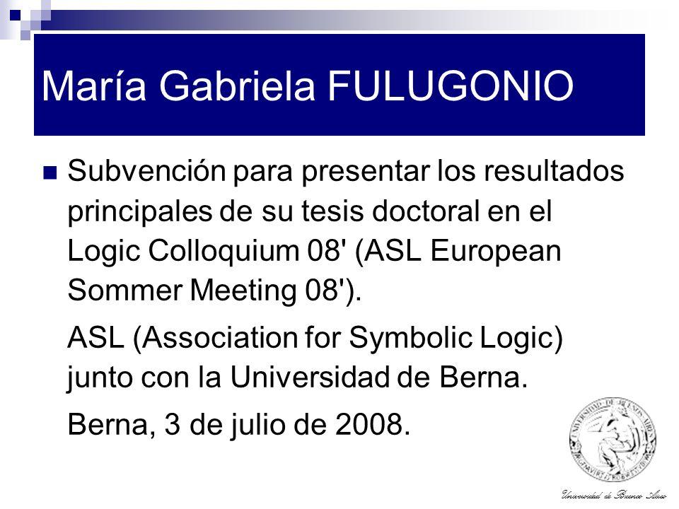 María Gabriela FULUGONIO