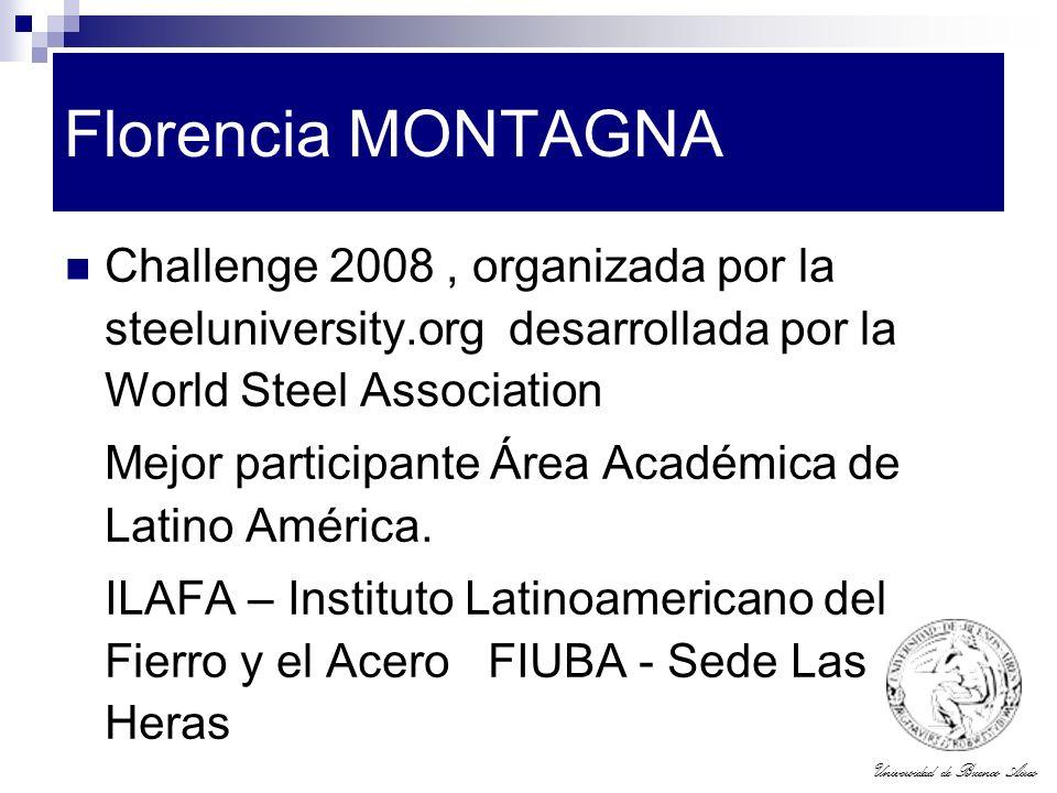 Florencia MONTAGNA Challenge 2008 , organizada por la steeluniversity.org desarrollada por la World Steel Association.